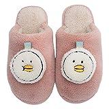 Pantuflas Térmicos de Invierno Suave Algodón Casa Zapatos Cómodo Y Antideslizante Cómoda zapatilla cálida de algodón unisex zapatos de pato lindo-Pink,39-40