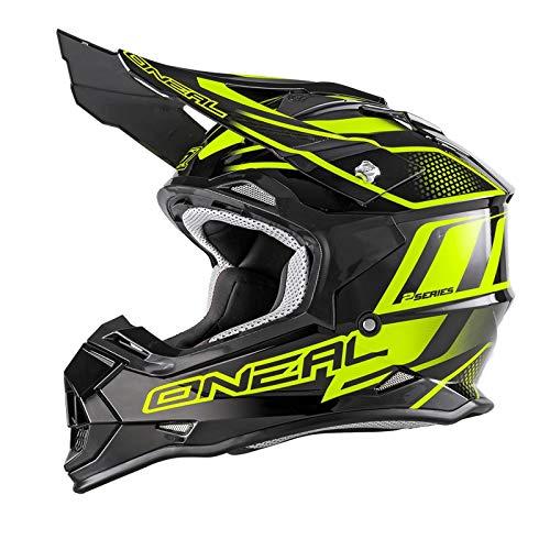 O'Neal 2Series RL MX Casco Manalishi, Nero, Giallo Neon Motocross Enduro Quad Cross ABS, 0200-02, Uomo, 2Series, Mehrfarbig Neon, S