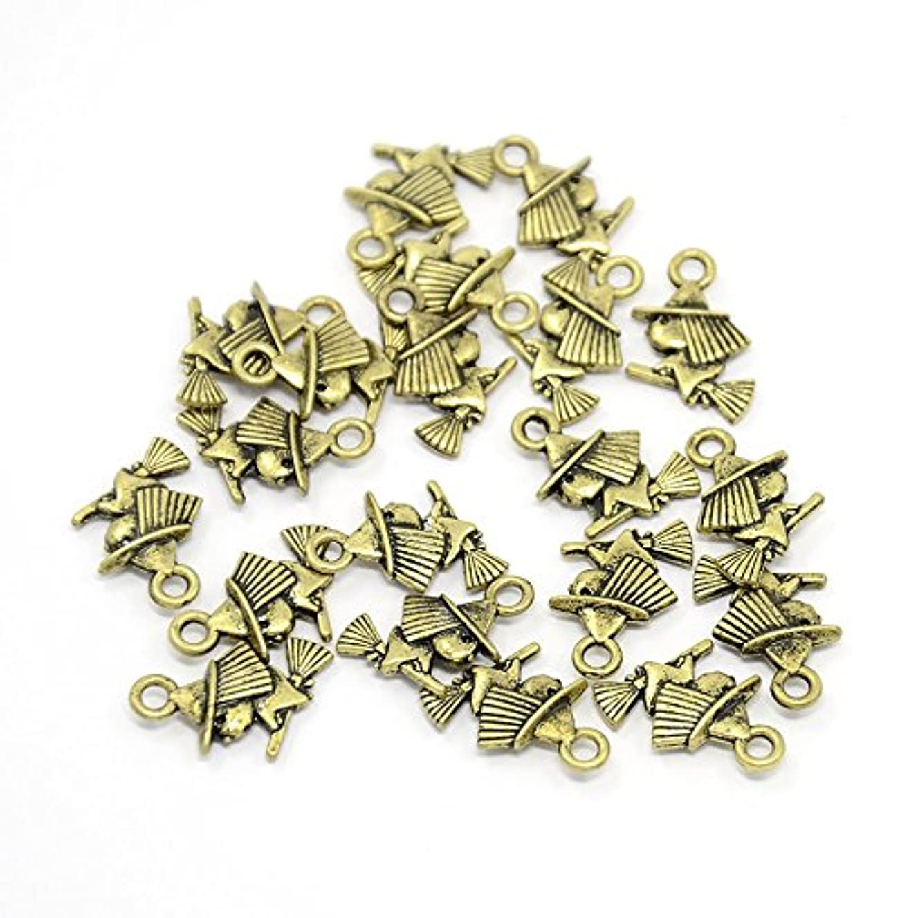 PEPPERLONELY Brand 20PC Antiqued Bronze Witch Alloy Charms Pendants 16x11mm