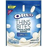 Oreo Thin Bites White Fudge Dipped Original Sandwich Cookies, 6.4 oz (Pack of 2)