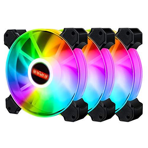 Bolange Refrigerado por aire Ventilador de computadora Control remoto Sincronización Silent RGB Efecto de iluminación Chasis Accesorios
