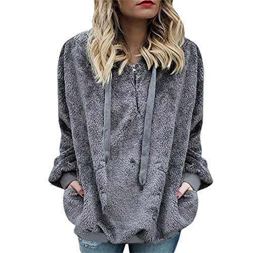 Womens Casual Pullover Solid Color Long Sleeve Sweatshirts Activewear Running Hoodies Club Hoodie Loose Sweatshirt