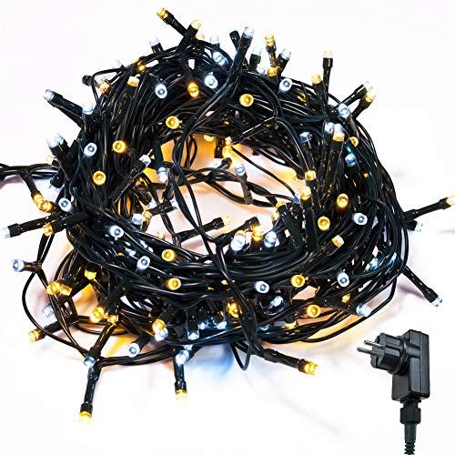 Cadena de Luces WISD 13M 200 LED Guirnalda de Luz Impermeable con 8 Modos y Función de Memoria, Luces de Navidad...