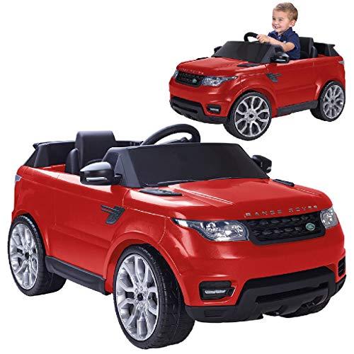 FEBER Famosa 800009611 - Range Rover Sport Elektroauto mit Fernbedienung für Kinder von 3 bis 7 Jahren, 6V, Farbe rot