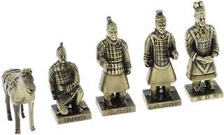 sharprepublic 銅像 世界遺産 兵馬俑 将軍俑 金属製 古典的 収集品 中国古代 記念品 工芸品 インテリア 置物 全3サイズ - S-1