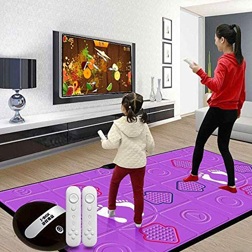 3D somatosensorial juego de baile consola esteras, multifuncional de alta definición espesado antideslizante cojín de la danza, Soporte Todos TV y conexiones USB, estera de silicona masaje danza dljyy