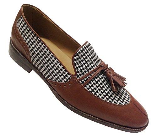 Chaussures pour homme Mocassins en cuir et tissu avec...