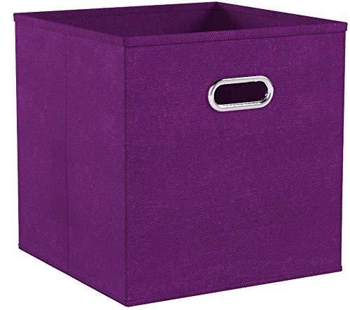 Zeller 14135 - Caja de almacenaje de tela, plegable, 28 x 28 x 28 ...