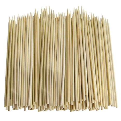 100 x Bamboe Spiezen Voor Grill BBQ Kebab Fruit Chocolade Fondue Houten Satay Sticks Cocktail Party 8