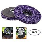 Achort 2pcs Disque Abrasif en Polycarbure Disque CSD à Roue pour Enlever la Rouille de la Peinture Nettoyer pour Meuleuse d'angle 125mm