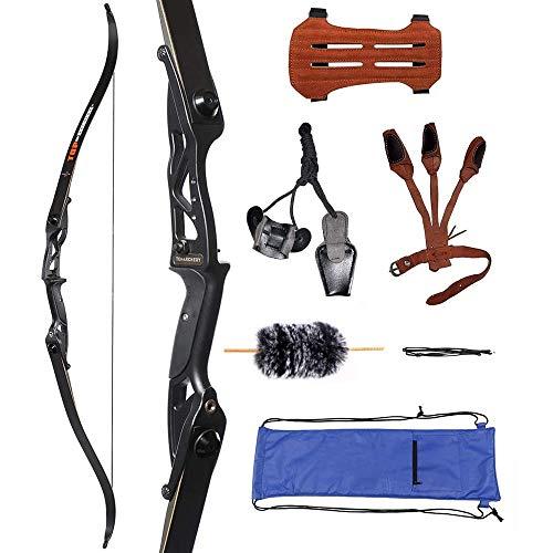 Huntingdoor Bogenset Takedown Recurvebogen 30-50 lbs Einsteigerset Jagd Bögen mit Zubehör (45Lbs)