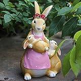 Estatuas y Figuras de Conejos para jardín, esculturas, decoración del hogar, Adornos de Animales, Lindos Conejos se Ven geniales en Cualquier Espacio de Vida al Aire Libre, B