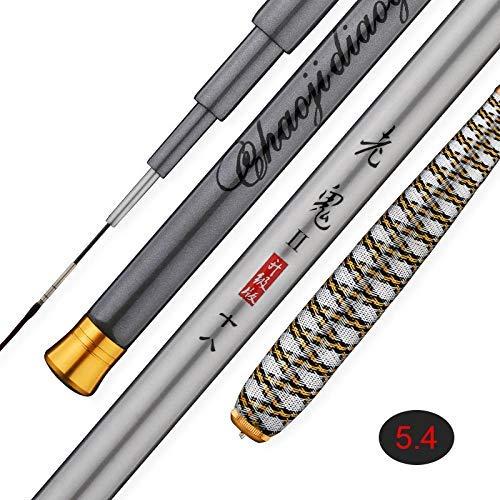 Chomile Harte FRP Angelrute Tragbar Teleskopisch Ultraleicht Angelrute für Bach Frischwasser - 7.2m