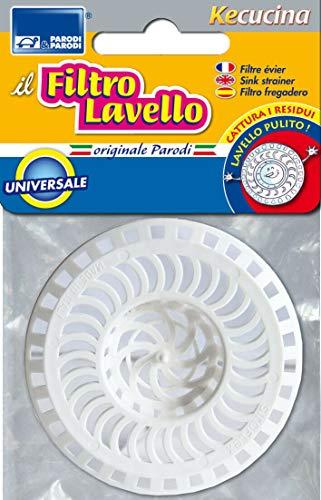 Parodi&Parodi Universale, Cattura Adattabile a Qualsiasi, Filtro lavandino per residui depositati nel lavello, Neutro, Standard