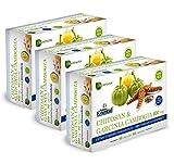 NATURE ESSENTIAL   Chitosán + Garcinia 800 mg 60 Cápsulas con Vitaminas B-1, B-2, B-6 y B-12 (Pack 3 unid.)