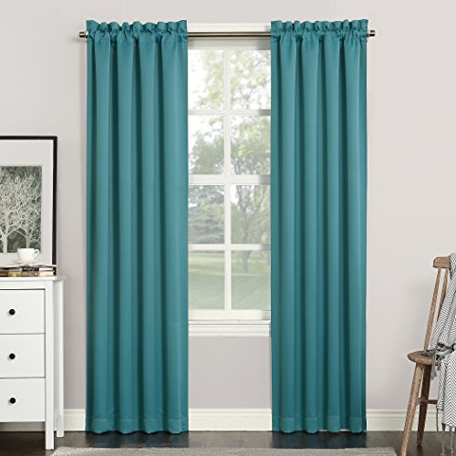 "63""x40"" Kenneth Blackout Rod Pocket Curtain Panel Marine - Sun Zero"