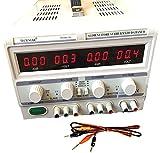DOBO VERSIONE DUALE Alimentatore Stabilizzato da banco Duale Trasformatore lineare corrente professionale regolabile fino a 30V-60V e 5A-10A / Parallelo o Seriale