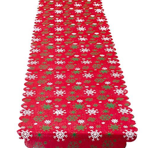 Hony Noël Chemin de Table - 1Pcs Nappe Rectangulaire Noel Motifs Nappe de Table Fête Maison de Noël Décoration Charmants Nappe 35 * 175 CM