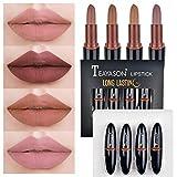 TEAYASON Long-lasting 4 Color Matte Velvet Lipstick Set - Great for gift