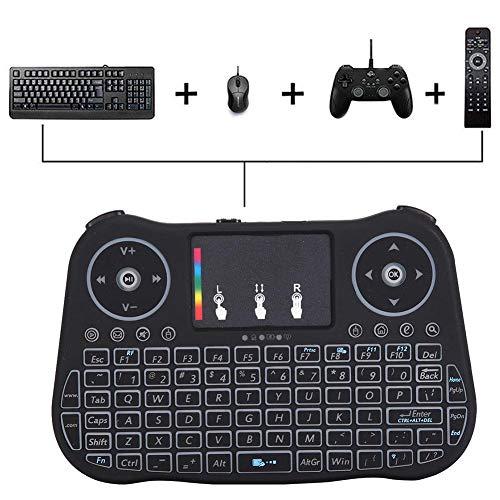2.4G draadloos Fly Air Mouse-toetsenbord, USB draadloos toetsenbord voor pc Smart TV Box, compatibel met 94 toetsen QWERTY-toetsenbord/innovatief scrollen op volledig scherm/ergonomisch ontwerp