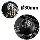 SkinoEu® 1 x Schalthebel Aufkleber Schaltknauf Emblem Silikon Sticker Skull Totenkopf Schädel...