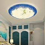 HDHUA Deckenbeleuchtung Europäischer Tiffany-Art-Blaue Farbe Ocean Glas LED-Kronleuchter Wohnzimmer...