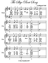 The Skye Boat Song Easiest Piano Sheet Music (English Edition)