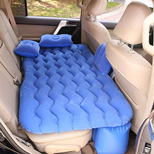 Car Inflatable Bed Car Supplies Sleeping Mattress Car SUV Rear Row Rear Seat Cushion Sleeping Pad Air Bed Travel Bed,Air Mattress Bed Air Mattress Bed (Color Name : Blue no Pump)