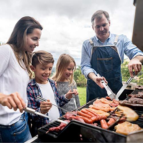 51iu0Ku8OQL - COSTWAY Grillbesteck-Set 27-teilig, aus Edelstahl, BBQ-Grillwerkzeugsatz mit Tragekoffer, Komplettes Grillzubehör zum Kochen, Camping