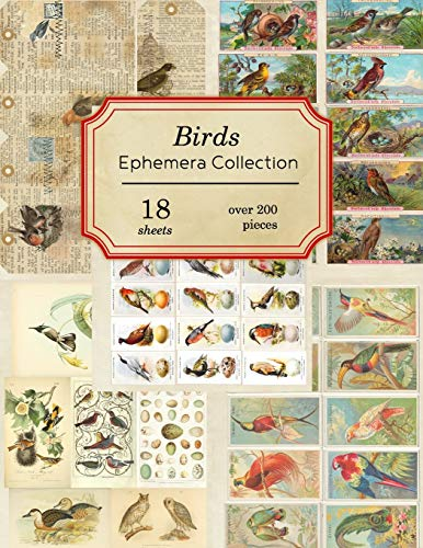 Compare Textbook Prices for Birds Ephemera Collection: 18 sheets - over 200 vintage Ephemera pieces for DIY cards, journals and other paper crafts Vintage Ephemera Collection  ISBN 9781698582146 by Journals, Ilopa