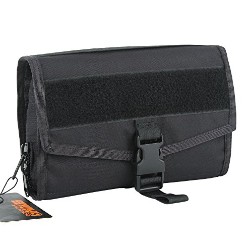 Excellent Elite Spanker Waschsalon Brustbeutel Kofferorganizer Bag Nylon Hanging Toiletry Travel Kit for Bathroom Shower(Schwarz)