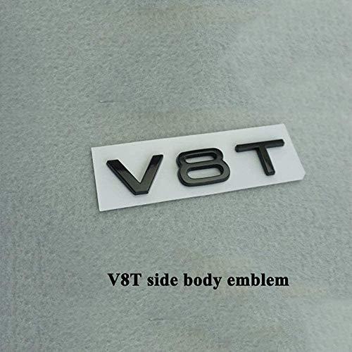 ACYCY 1 Pc Auto Emblem Logo Auto Aufkleber Abzeichen Heckkoffer Abs Matt Schwarz Für Audi A6 A7 A8 S4 S5 S6 S8 Rs4 Rs5 Rs6 Rs7 Rs8 Sq5 Sq7, V8T