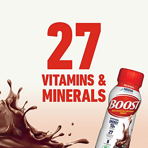 Boost Original Complete Nutritional Drink, Rich Chocolate, 8 Fl Oz (Pack of 24)