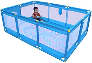 GWFVA Playpen Fence Kids Activity Center Child Safety Playground Castle Lock Infant Toddler Cleaning Rugs Household Toy Shockproof