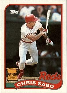 1989 Topps Baseball Rookie Card #490 Chris Sabo