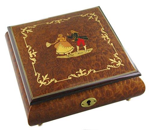Lutèce Créations Boîte à Bijoux Musicale en Bois avec marqueterie Danseurs - Une Chanson Douce (Henri Salvador)