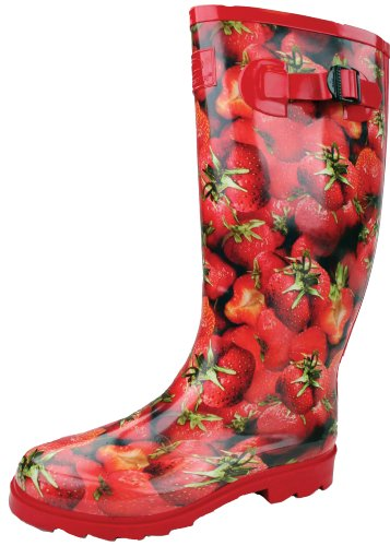 HIGHLANDER Countrywoman Bottes Femme, Rouge, Taille 5