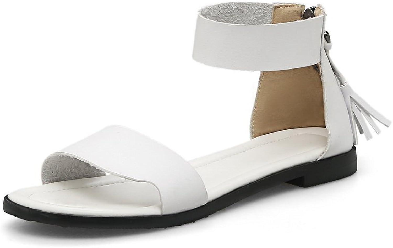 AN Womens Hollow Out Tassels Split-Sole Urethane Sandals DIU00583