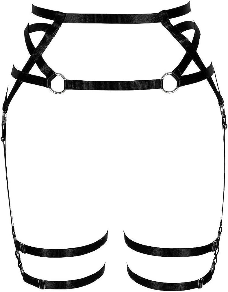 Women's Punk Harness Garter Award-winning store Belt Waist High Adjusting S Leg Credence