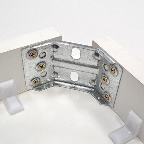 Euro Tische 4er Set Tischbeschlag 115x70mm Tischwinkel Tischbeinverbinder Winkelverbinder