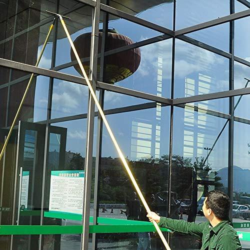 LYRAL Teleskopische Fensterreiniger Bar Schaber, Hochglas Photovoltaikpaneel Reinigungswerkzeug, Robuste, LKW Glasreinigung,2.3m