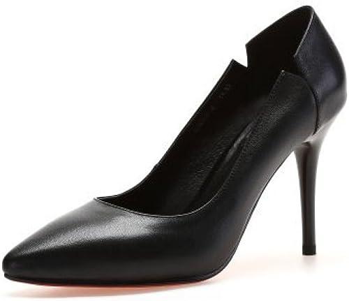 DKFJKI Frauen Frauen Frauen Stiletto Heels Spitze Pumps Mode Professionelle Arbeitsschuhe Kleider  hier hat das neuste