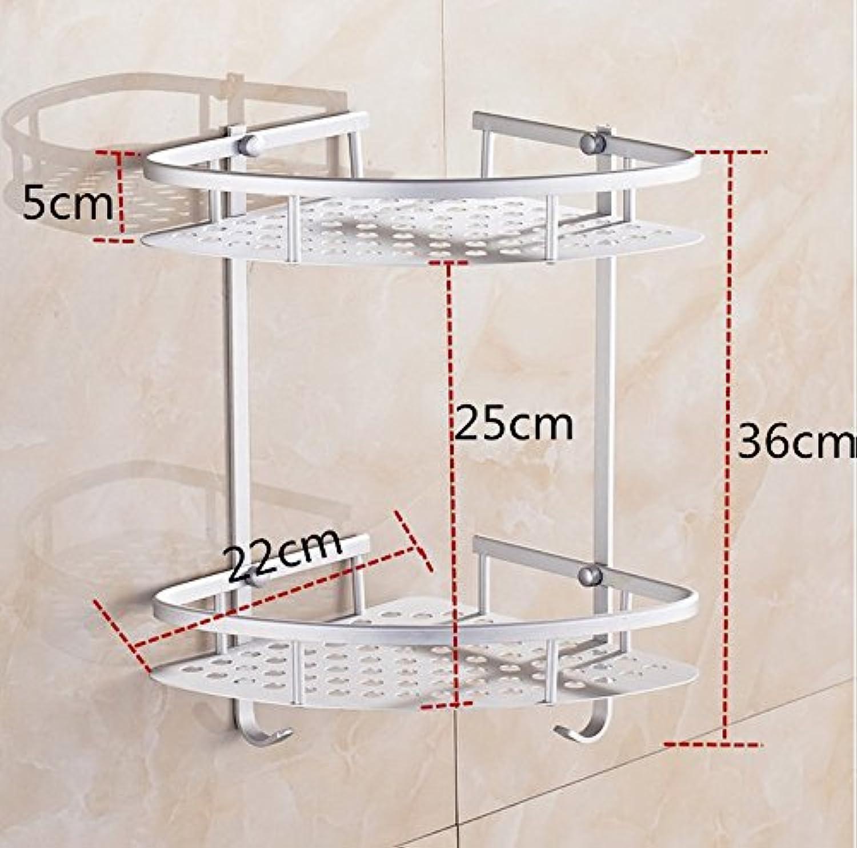 RUGAI-UE Bathroom Wall-Mounted Shelf Bathroom Shelf Space Aluminum 2 Tripod Bathroom Toilet-Bathroom Storage