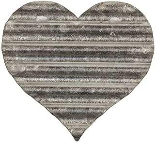 Everydecor Small Corrugated Galvanized Metal Heart Wall Decor
