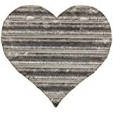 EveryDecor Metal Heart Wall Decor - Corrugated & Galvanized Steel Decorations for Living Room, Bedroom, Kitchen, Gallery, Office - Rustic & Shabby Chic Ornaments for Home Interior - 6.38x6.25-Inch
