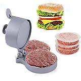 Pressa per Hamburger, FantasyDay Antiaderenti Alluminio Pressa Polpette per Cheeseburger Hamburger, Succosi di Carne Macinata e Grill - Burger Press Batticarne Martello Utensili con 100 Carta Cerata