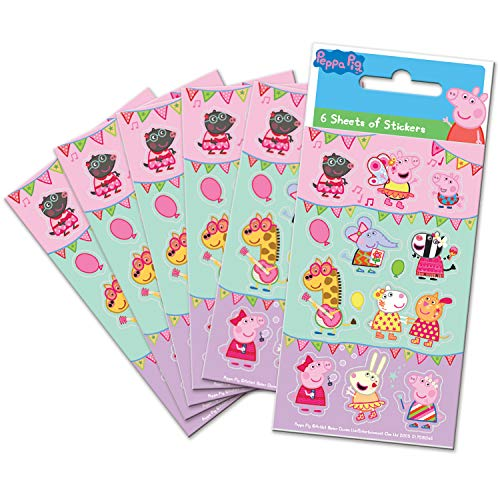 Paper Projects 01.70.15.045 Peppa Varken Festival van Fun Party Bag Stickers (Six Sheets)
