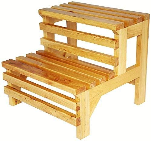 Taburete plegable fino robusto Taburete de baño Sofá de madera Sofá Step Tool Step Banco Pequeño Cedro Taburete Rectángulo de madera Mat de madera Ducha Pedal Pedal Impermeable Antidense Banco de duch