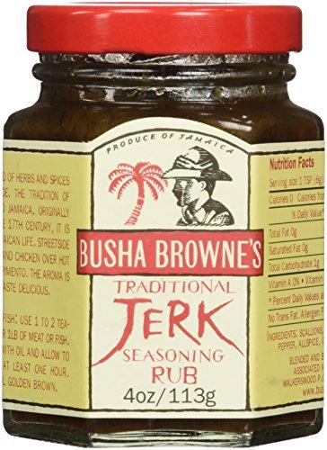 Busha Browne Jerk Seasoning Rub, 4 oz