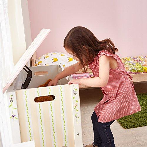 Fantasy Fields Childrens Princess & Frog Kids Holz-Spielzeugkiste W-7462A - 3